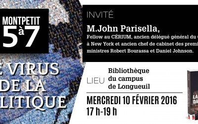 Bienvenue au Monpetit 5 à 7 avec John Parisella