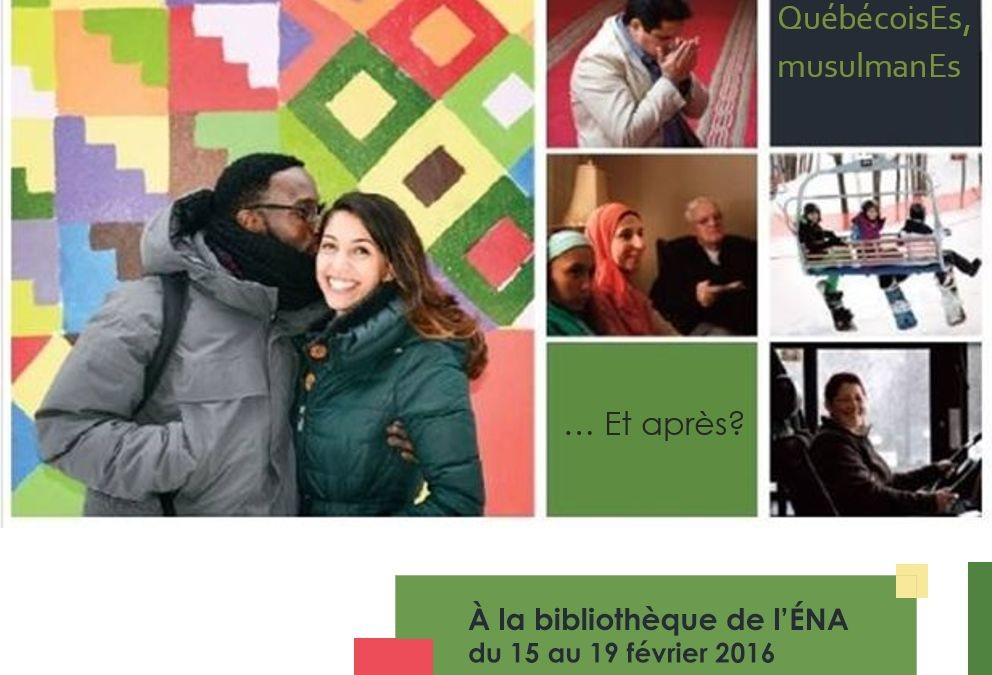 Exposition à la bibliothèque de l'ÉNA du 15 au 19 février 2016