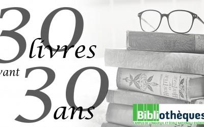 30 livres à lire avant 30 ans!
