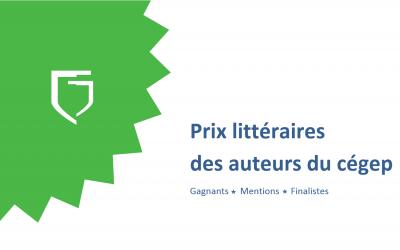 Les prix et mentions littéraires de nos auteurs en exposition